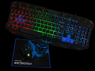 Jual Keyboard Mouse games rexus warfaction