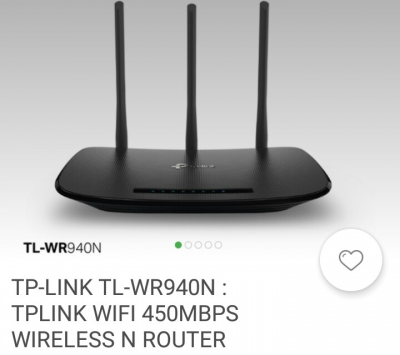 agen wireless router Tp-Lin TL-WR940N wifi 450MBPS