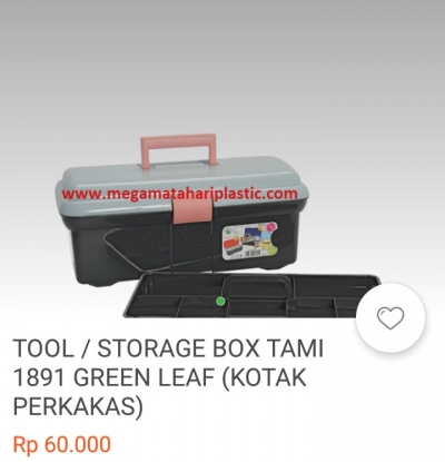 Storage box tool green leaf (kotak perkakas)