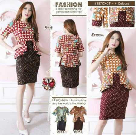 murah bodycon dress batik rok span modern wanita