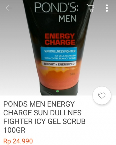 harga grosir Ponds men energy gel scrub 100Gr