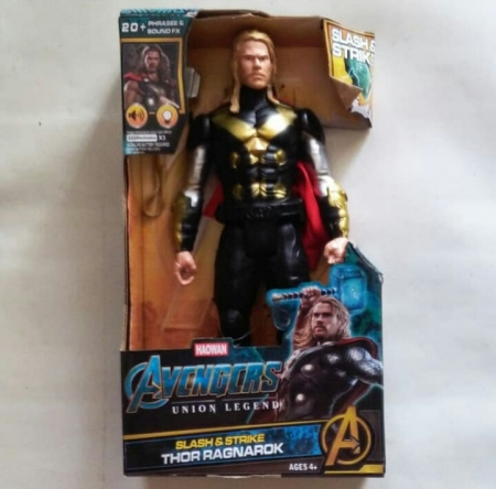 action figure super hero avenger with lamp and sound