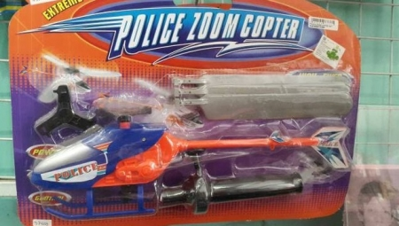 Mainan Helikopter Police zoom Copter