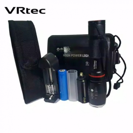 Paket Senter E17 COB VRtec Senter LED Torch Cree XM-L T6 800