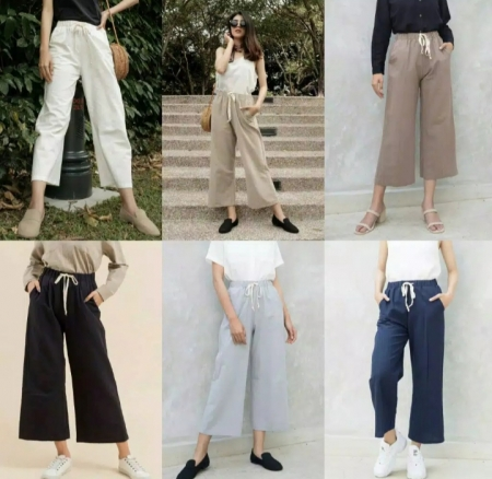 HILLA PANTS Ootd muslim Fashion Hits Celana murah