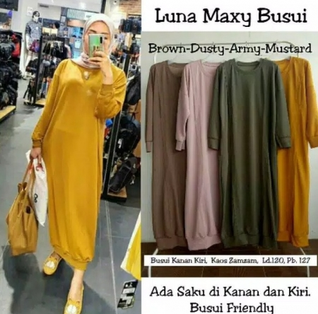 LUNA MAXY Dress Murah Terbaru Dress muslim Gamis Murah