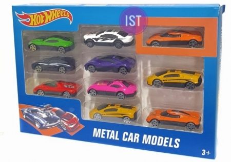 Mainan die cast mobil hot wheels isi 10pcs